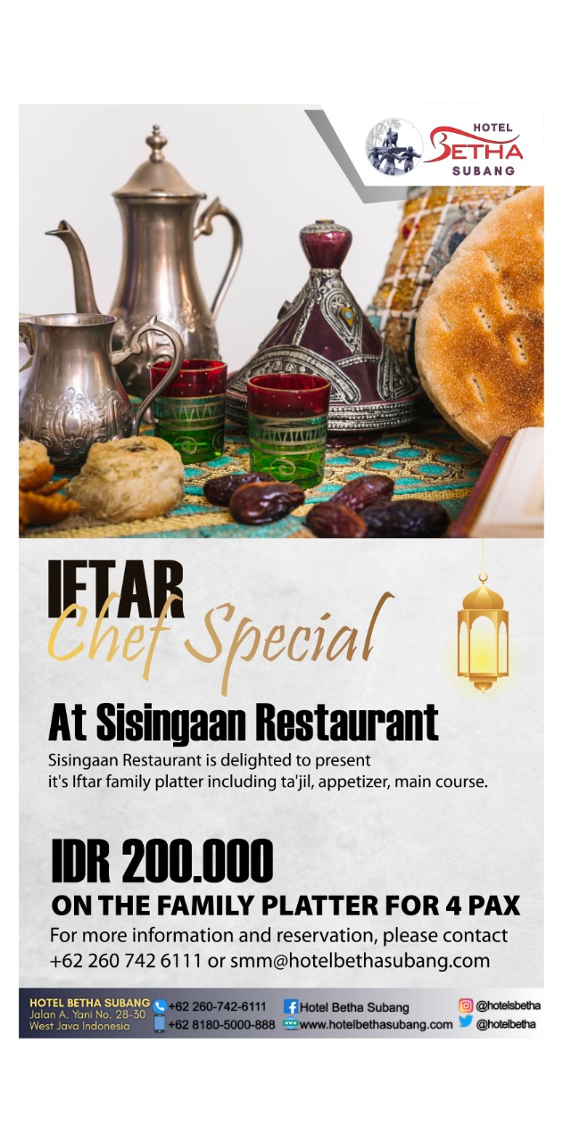 Promo Iftar Chef Special